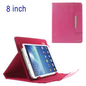 Rose ZHUDIAO Universal Lines Texture Stand Leather Cover for iPad Mini 2 / Samsung T3100 T331 / 8-inch Tablet PCs Etc
