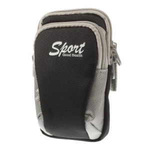 4 inch Universal Sports Gym Armband Pouch Case for iPhone 4s Nokia Lumia 530 - Black