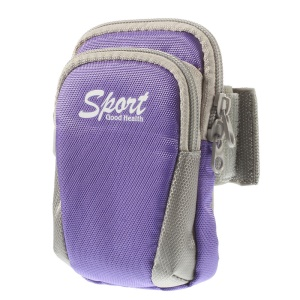 4 inch Universal Outdoor Sports Armband Pouch for iPhone 4s Nokia Lumia 530 Samsung Galaxy Ace Style SM-G310 - Purple