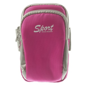 5.5 inch Sports Armband Pouch Case for iPhone 5s Samsung Galaxy S5 G900 Huawei Ascend G630 - Rose