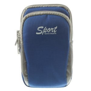5.5 inch Sports Armband Pouch Cover for iPhone 5s Samsung Galaxy S5 G900 Sony Xperia T3 - Blue