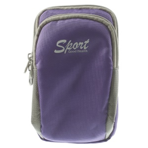 5.5 inch Sports Armband Pouch Bag for iPhone 5s Samsung Galaxy S5 G900 Sony Xperia T3 - Purple