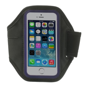 Running Gym Sports Neoprene Armband Case for iPhone 5s 5 4s 4 - Purple