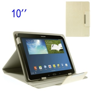 ZHUDIAO Edge Series Universal Leather Stand Case for 10.1-inch Tablets - White