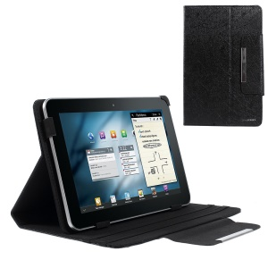 Black ZHUDIAO Edge Series Universal Lines Texture Leather Stand Case for 9-inch Tablets / Samsung Galaxy Tab 8.9 P7300