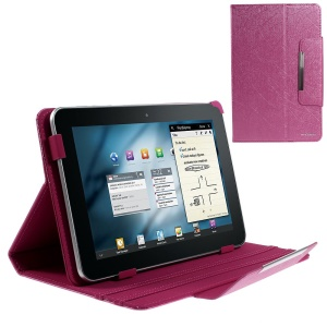 Rose ZHUDIAO Edge Series Universal Lines Texture Leather Shell for 9-inch Tablets w/ Stand