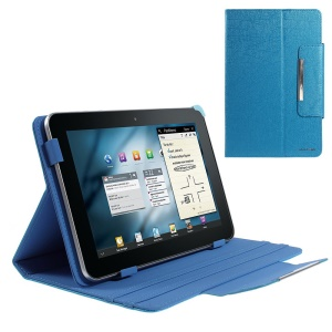 Blue ZHUDIAO Edge Series Universal Leather Cover for 9-inch Tablets w/ Stand