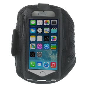 Sweat-absorbent Mesh Sport Gym Jogging Armband Case for iPhone 5s 5 5c 4s 4 - Black