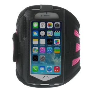 Sweat-absorbent Gym Sports Running Mesh Armband Case for iPhone 5s 5 5c 4s 4 - Pink