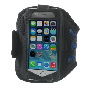 Sweat-absorbent Mesh Workout Sports Armband Arm Case for iPhone 5s 5 5c 4s 4 - Blue