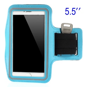 Running Sports Armband Pouch Cover for Samsung Galaxy Note 3 N9005, Size: 151.2 x 80mm - Baby Blue