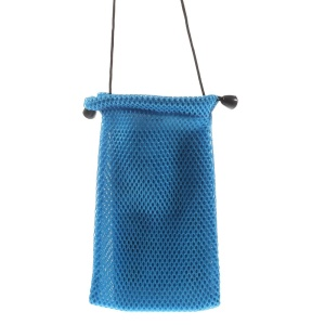 Blue Mesh Design Cloth Case Pouch for iPhone 6 4.7-inch Samsung HTC Sony Etc, Size: 14.5 x 10cm
