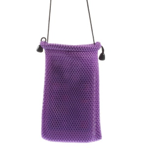 Purple Mesh Design Cloth Case Pouch for iPhone 6 4.7-inch Samsung HTC Sony Etc, Size: 14.5 x 10cm