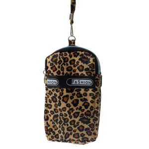 Double Pockets Daily Waterproof Wrist Pouch for iPhone Samsung HTC , Size: 14.5 x 7.5cm - Leopard Pattern