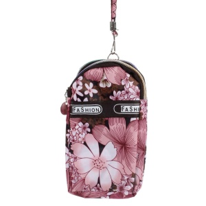 Double Pockets Daily Waterproof Wrist Bag Pouch for iPhone Samsung HTC , Size: 14.5 x 7.5cm - Beautiful Flower
