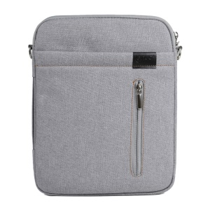 Gray Lenuo BL31 Linen Zippered Bag Cover w/ Strap for iPad iPhone Samsung Tablets Mobile Phones