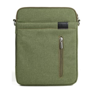Green Lenuo BL31 Linen Zippered Bag Case w/ Strap for iPad iPhone Samsung Tablets Mobile Phones