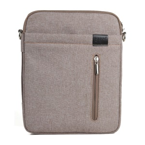 Khaki Lenuo BL31 Linen Zippered Pouch Bag w/ Strap for iPad iPhone Samsung Tablets Mobile Phones