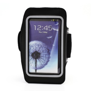 Sports Workout Gym Running Armband Case for Samsung Galaxy S 4 IV i9500 i9505 - Black