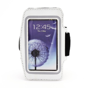 Sports Workout Gym Running Armband Case for Samsung Galaxy S 4 IV i9500 i9505 - White