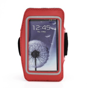 Sports Workout Gym Running Armband Case for Samsung Galaxy S 4 IV i9500 i9505 - Red