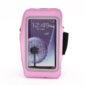 Sports Workout Gym Running Armband Case for Samsung Galaxy S 4 IV i9500 i9505 - Pink