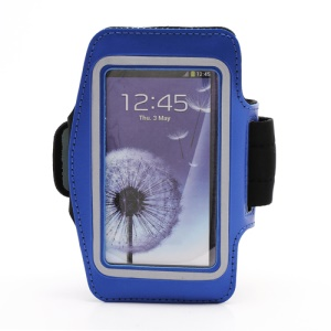 Sports Workout Gym Running Armband Case for Samsung Galaxy S 4 IV i9500 i9505 - Blue