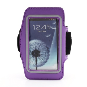 Sports Workout Gym Running Armband Case for Samsung Galaxy S 4 IV i9500 i9505 - Purple