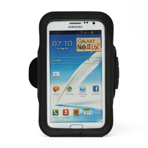 Premium Sport Gym Armband Case for Samsung Galaxy Note II N7100 I9220 - Black