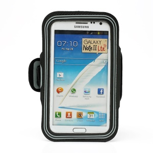 Premium Sports Workout GYM Armband Case for Samsung Galaxy Note II N7100 I9220 - Grey
