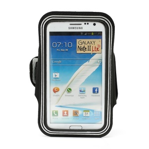 Premium Sports GYM Armband Case for Samsung Galaxy Note II N7100 I9220 - Silver