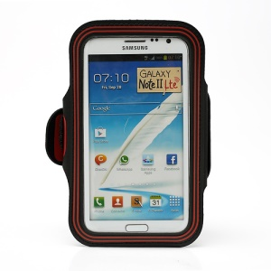 Premium Sports Gym Jogging Armband Case for Samsung Galaxy Note II N7100 I9220 - Red
