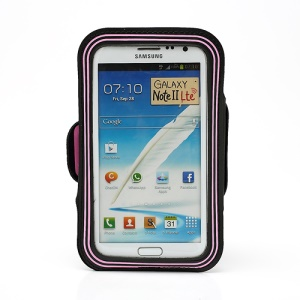 Premium Gym Running Sport Armband Case for Samsung Galaxy Note II N7100 I9220 - Pink