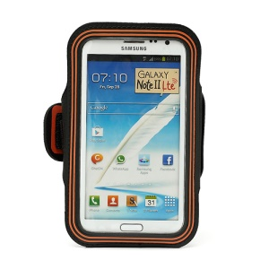 Premium Pouch Exercise Armband Case for Samsung Galaxy Note II N7100 I9220 - Orange