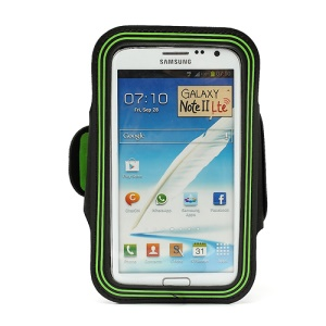 Premium Sport Armband Gym Band Case for Samsung Galaxy Note II N7100 I9220 - Green