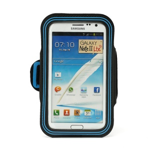Premium Gym Sport  Armband Case Cover for Samsung Galaxy Note II N7100 I9220 - Blue