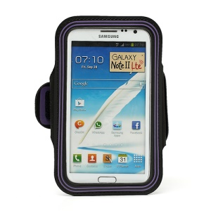 Premium Protective Gym Sport  Armband Case for Samsung Galaxy Note II N7100 I9220 - Purple
