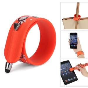 KTWO Paul Frank Wrist Slap Capacitive Touch Screen Pen Stylus for iPhone iPad iPod Samsung HTC LG - Orange
