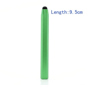 Hexagon Capacitive Stylus Touch Screen Pen for iPad iPhone Samsung HTC etc( Length 9.5cm) - Green