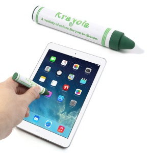 Crayon Shape Capacitive Touch Screen Pen Stylus for iPhone iPad iPod Samsung LG Sony - Green
