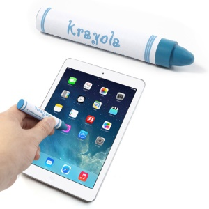 Crayon Shape Capacitive Touch Screen Pen for iPhone iPad iPod Samsung LG Sony - Blue