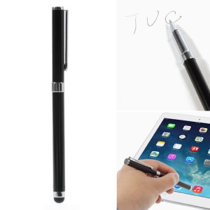 Black Multi-functional Ballpoint & Stylus Pen for Capacitive Touch Screen Devices 14cm