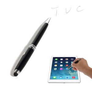Black 2-in-1 Stylus Touch Pen + Ballpoint Pen for iPhone 6 iPad Samsung Sony HTC