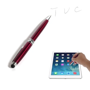Red 2-in-1 Stylus Touch Pen + Ballpoint Pen for iPhone 6 iPad Samsung Sony HTC