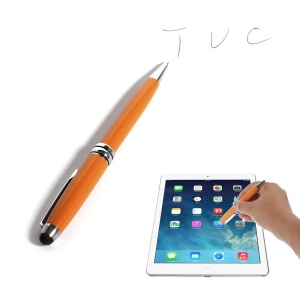 Orange 2-in-1 Stylus Touch Pen + Ballpoint Pen for iPhone 6 iPad Samsung Sony HTC