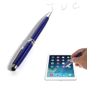 Deep Blue 2-in-1 Stylus Touch Pen + Ballpoint Pen for iPhone 6 iPad Samsung Sony HTC