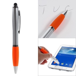 2-in-1 Capacitive Screen Stylus Touch Pen + Ballpoint Pen for iPhone iPad Samsung Sony HTC etc - Orange