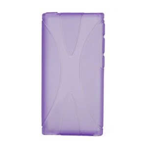 Anti-slip X Shape TPU Gel Case Cover for iPod Nano 7 - Purple