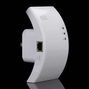 Wireless-N WiFi Repeater Router Range Expander Extender for WLAN Network - US Plug