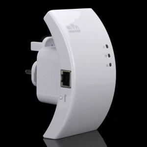 Wireless-N WiFi Repeater Router Range Expander Extender for WLAN Network - UK Plug